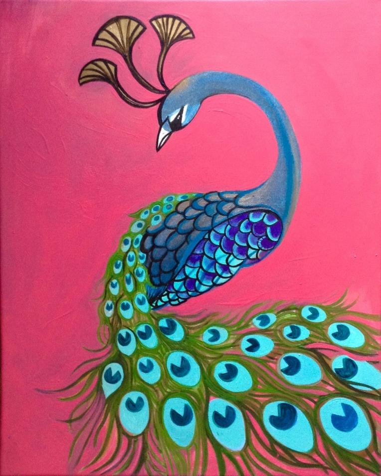 peacockonpink
